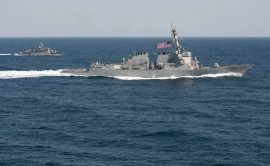 U.S. destroyer challenges China's claims in South China Sea